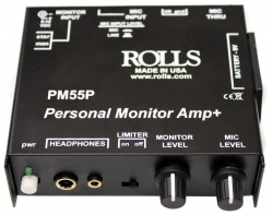 In Ear Rolls PM 55P Personal Monitor Amp